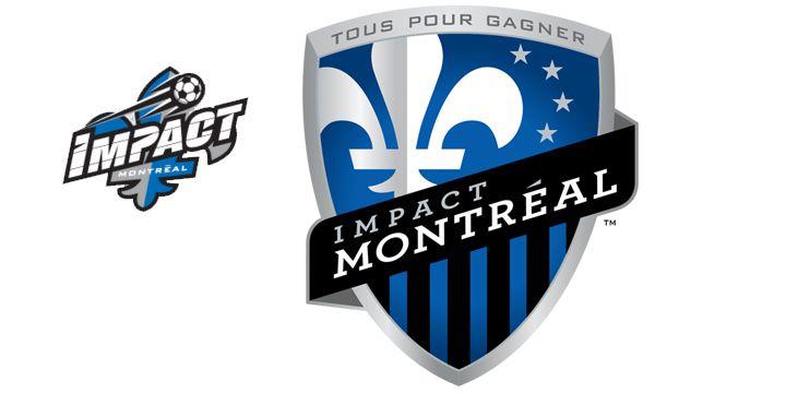 Montreal Impact logos.