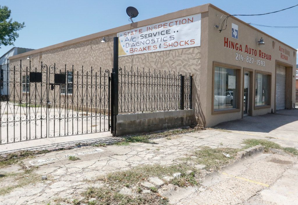 Auto shop owner Hinga Mbogo photographed in front of his new  auto shop on Chesnut Street in Dallas Thursday July 20, 2017.   (Ron Baselice/ The Dallas Morning News)