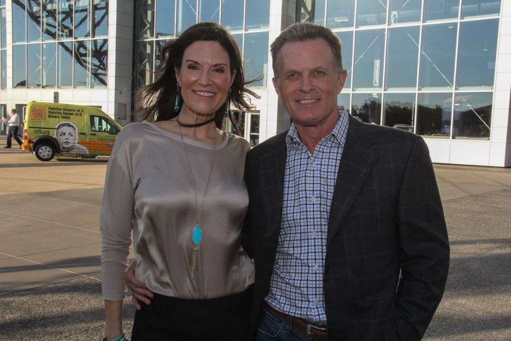 TV personalities Gina Miller and Doug Dunbar emceed the Taste of the NFL tailgate party.
