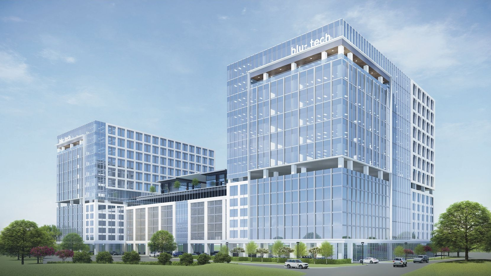 The project planned at the Dallas North Tollway and Headquarters Drive will include two office towers and a hotel.