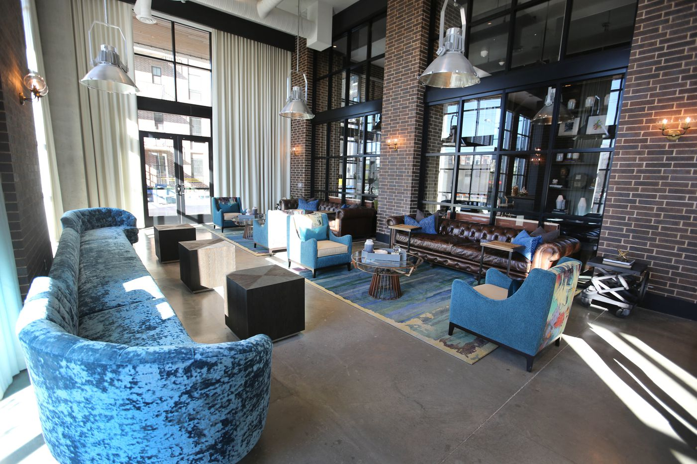 The lobby of the Case Building at  3131 Main St. in Deep Ellum in Dallas.