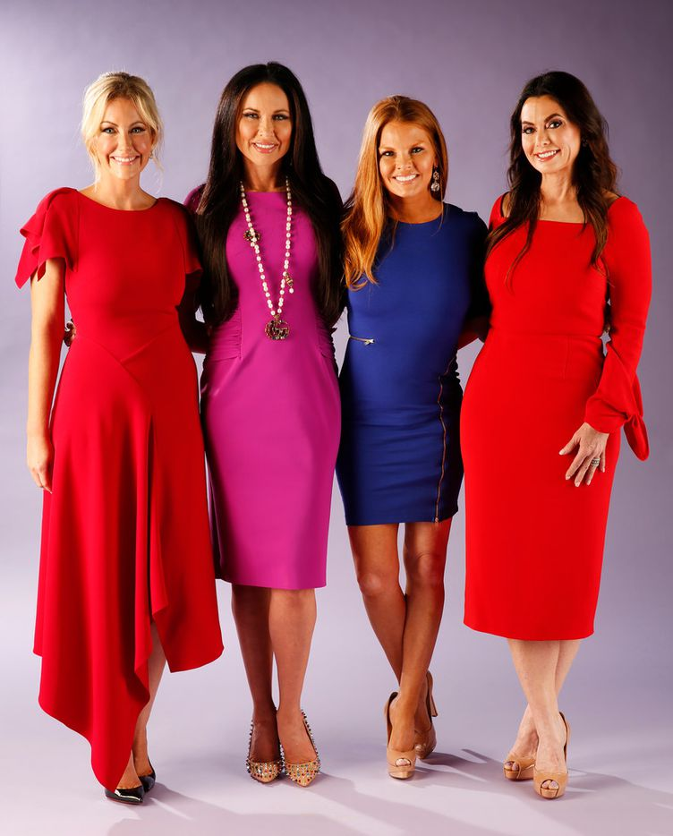 """""""The Real Housewives of Dallas"""" will return with new episodes on Aug. 15. (from left) Stephanie Hollman, LeeAnne Locken, Brandi Redmond and D'Andra Simmons pose for a photograph in The Dallas Morning News studio on Wednesday, Aug. 8, 2018."""