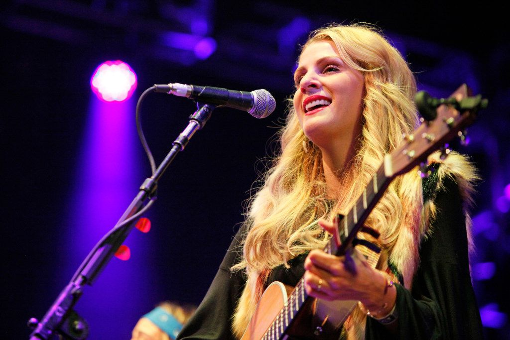 Jennifer Wayne of the country music group Runaway June, performs with the three piece as an opening act for Willie Nelson and Family, at the Granada Theater in Dallas on Jan. 03, 2017. Jennifer Wayne is the granddaughter of Hollywood legend John Wayne. Ben Torres/Special Contributor