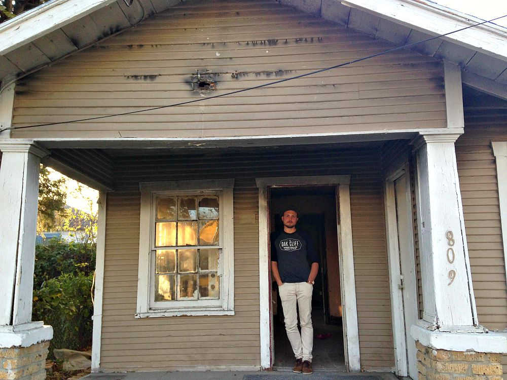 A.J. Ramler in his house on Millard Street