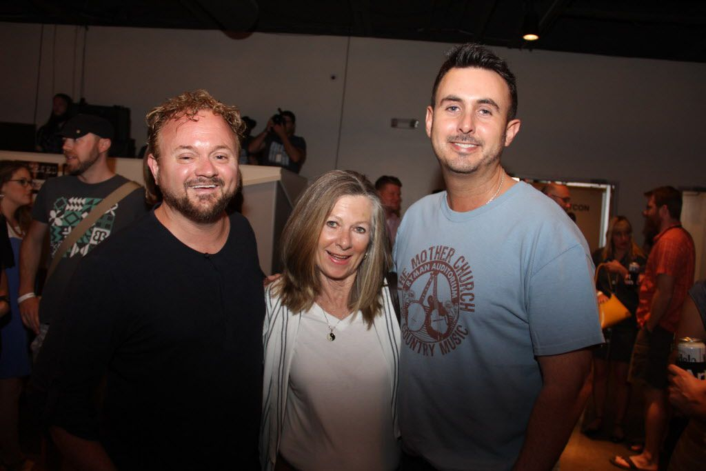Alan Eskew Pamela Boullier and Adam Ulevitch at Art Con Skewed at Life in Deep Ellum on June 6, 2015
