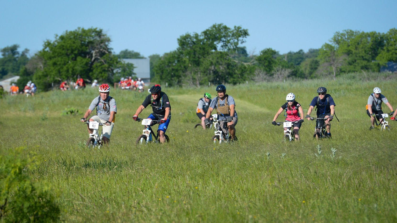 Day 1 of the the Warrior 100K in Crawford, TX. (Grant Miller/The Bush Center)