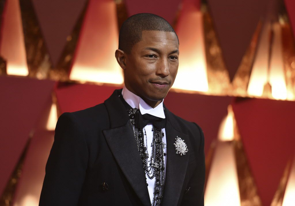 Pharrell Williams arrives at the Oscars on Sunday, Feb. 26, 2017, at the Dolby Theatre in Los Angeles. (Photo by Richard Shotwell/Invision/AP)