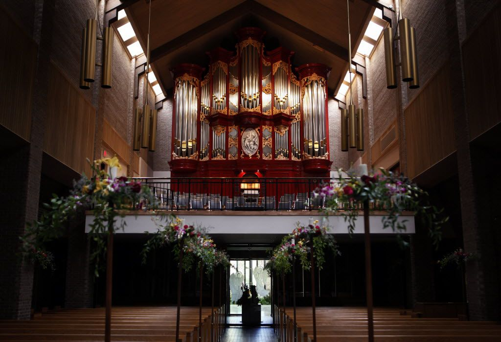 The new mechanical action organ at the Episcopal Church of the Transfiguration in Dallas.