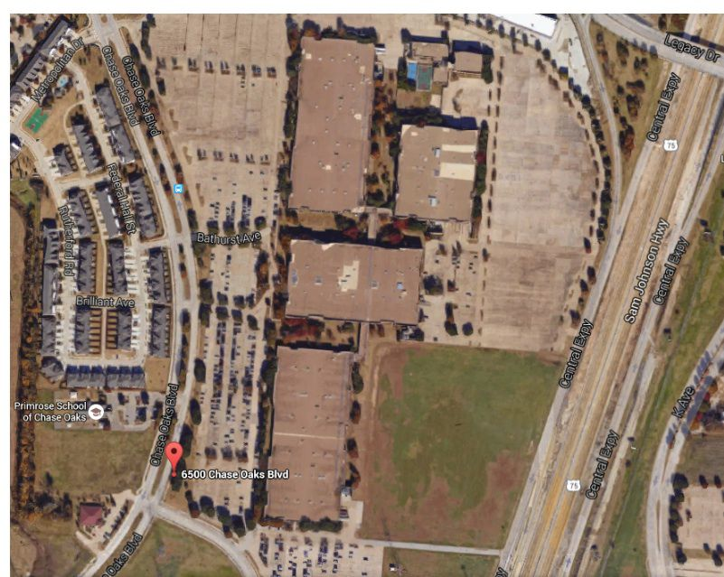 Texas Instrument's Plano plant is at U.S. 75 and Legacy Drive and contains almost 1 million square feet. (Google)