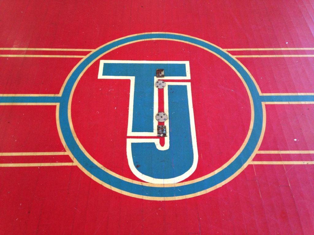 The gym floor at Thomas Jefferson High School