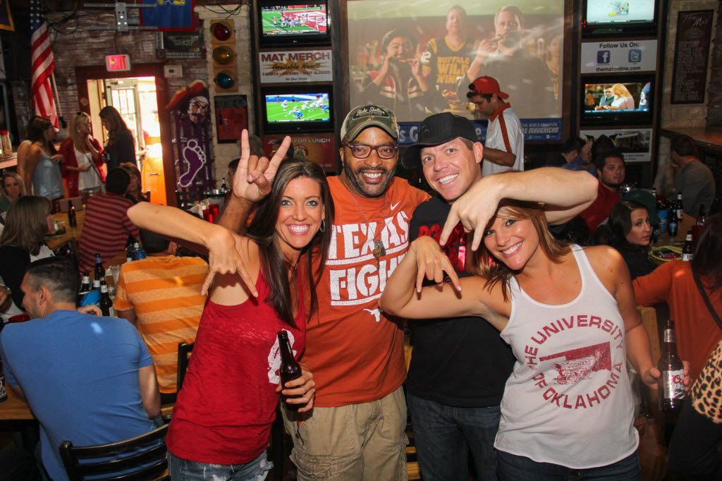 Big Al Mack has some fun with OU fans at  Big Al's McKinney Ave Tavern Texas/OU showdown on Saturday October 11, 2014 10152014xARTSLIFE