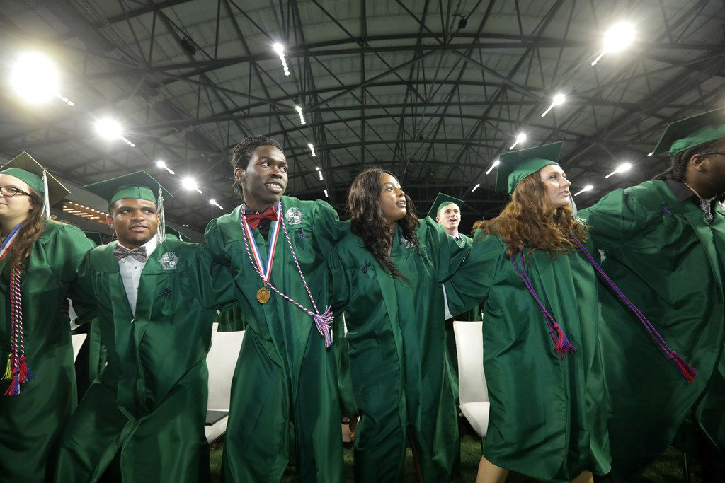 Prosper High School seniors participate in their graduation ceremony at The Star in Frisco, TX, on May 26, 2018. (Jason Janik/Special Contributor)
