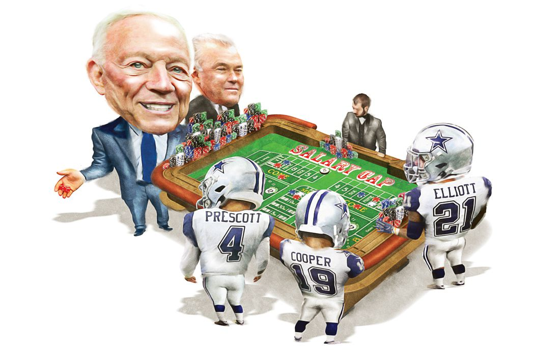 The Cowboys are betting on the NFL salary cap to rise, as it has every year since 2013. If the NFL is on a heater, the Cowboys are pushing in chips before its next roll.