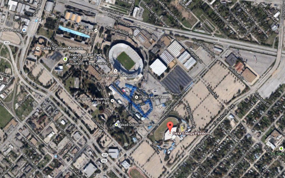 Fair Park as it looks today via Google Maps