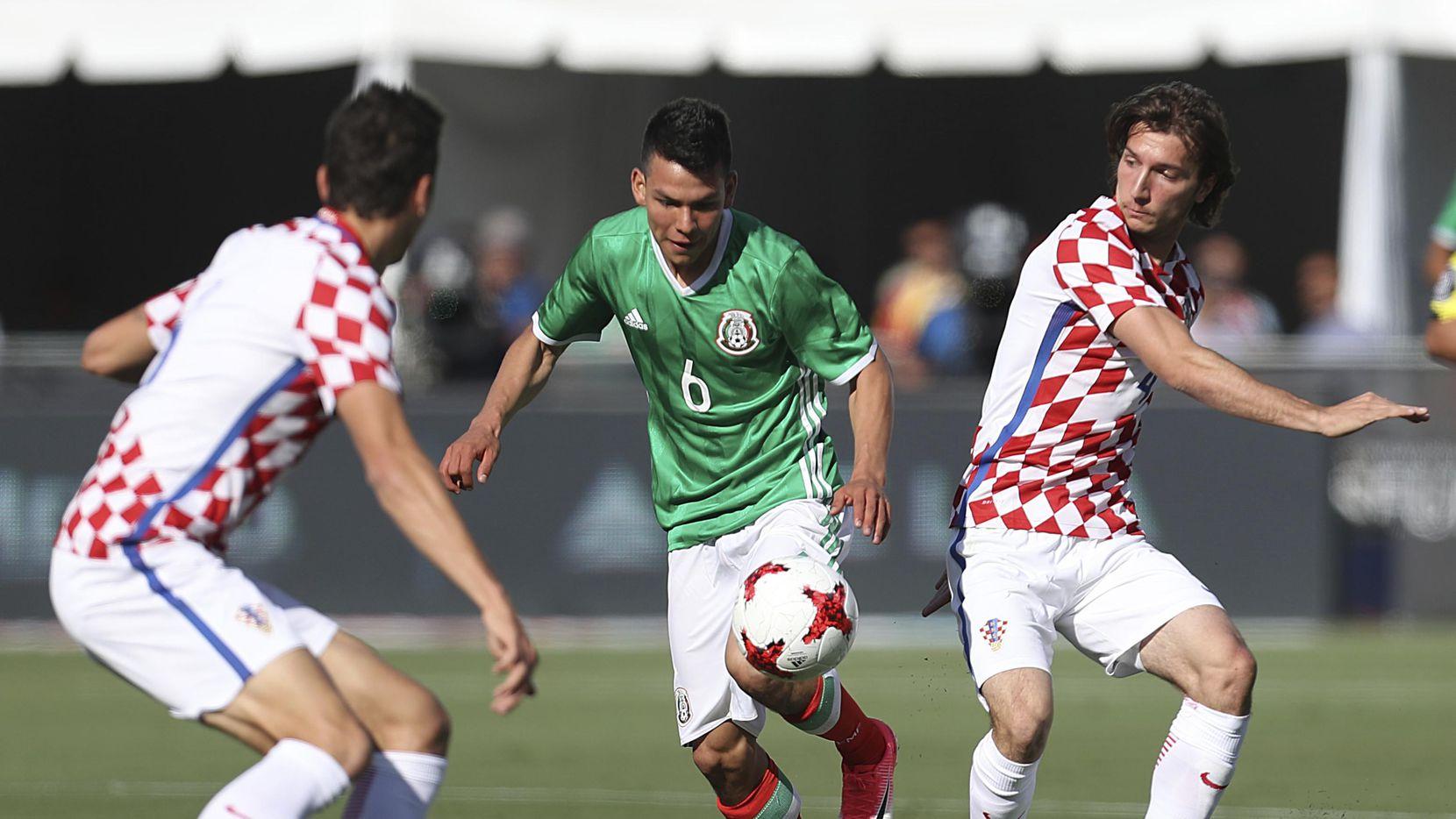 Hirving Lozano (6) y la selección de México regresan al Norte de Texas tras dos años y medio para medirse con Croacia en el estadio de los Cowboys. (Getty Images/Omar Vega)