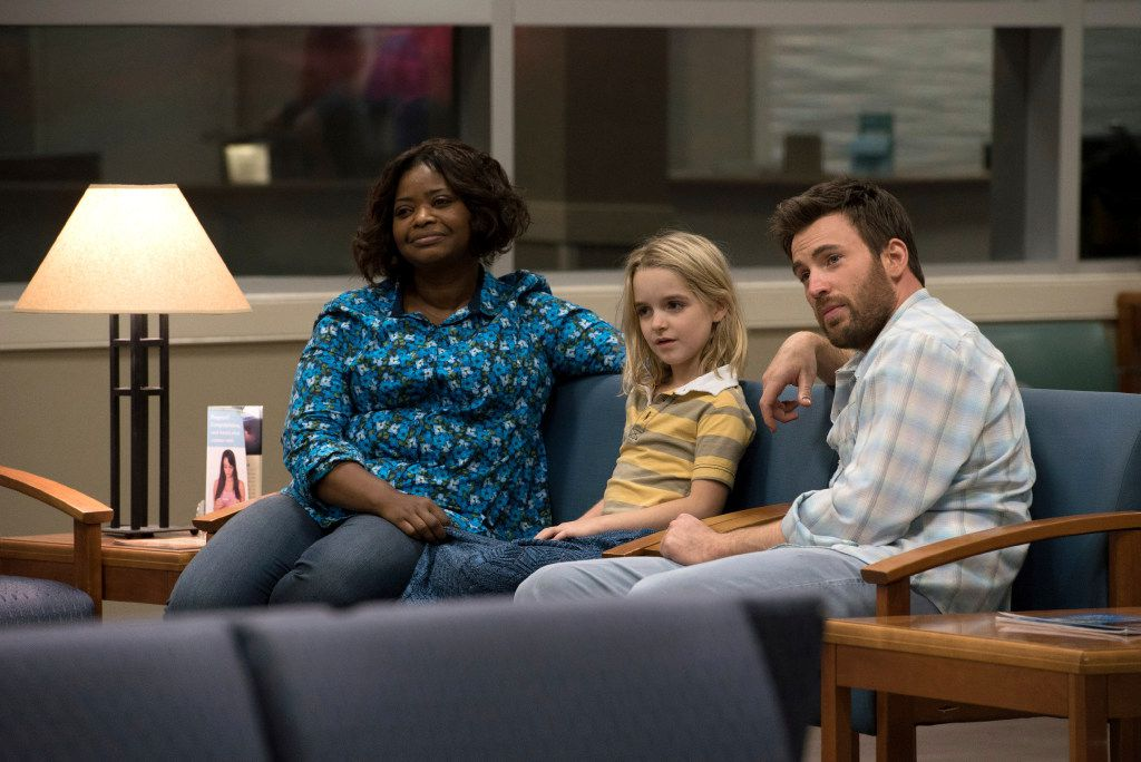 """Octavia Spencer, from left, McKenna Grace and Chris Evans appear in a scene from """"Gifted."""""""