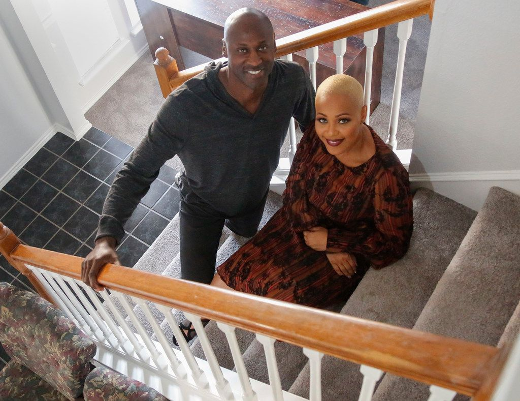 Former Major League Baseball player LaTroy Hawkins and his wife, Anita Hawkins, recently donated a home to be used as a domestic violence shelter to the nonprofit Women Called Moses. (Ron Baselice/Staff Photographer)