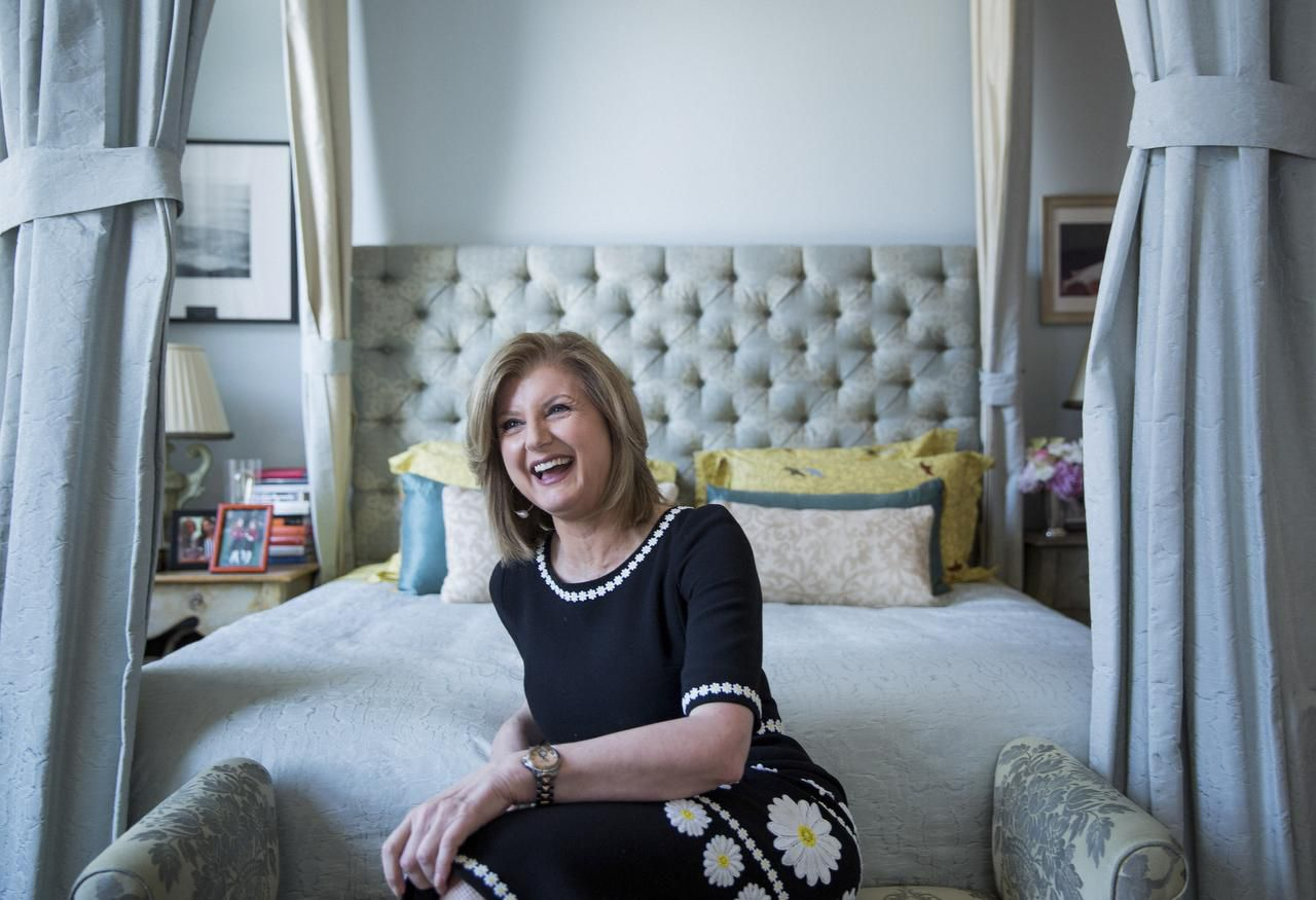 Arianna Huffington at her home in the Soho neighborhood of New York on April 18, 2016.