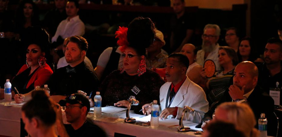 Some of the judges at Miss Gay Texas America came dressed as their own drag personas.