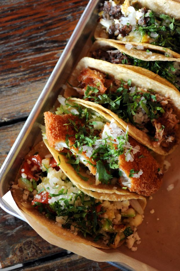 Tacos are served on house made tortillas at La Ventana in Addison, TX on May 7, 2015. (Alexandra Olivia/ Special Contributor)