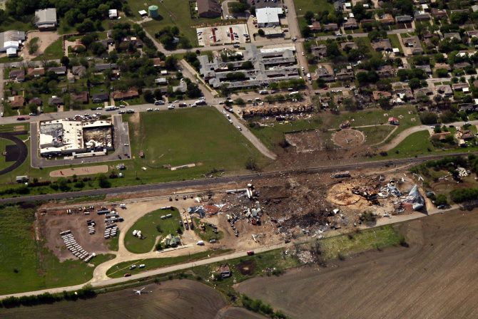 The West Fertilizer plant blast killed 15 and injured 200, while demolishing the factory and some of the neighborhood. The plant was in a county that could have had a fire code, unlike 173 counties in Texas. Even after the April blast, the Legislature failed to change the law that allows codes only in counties with more than 250,000 people or and in adjacent counties.