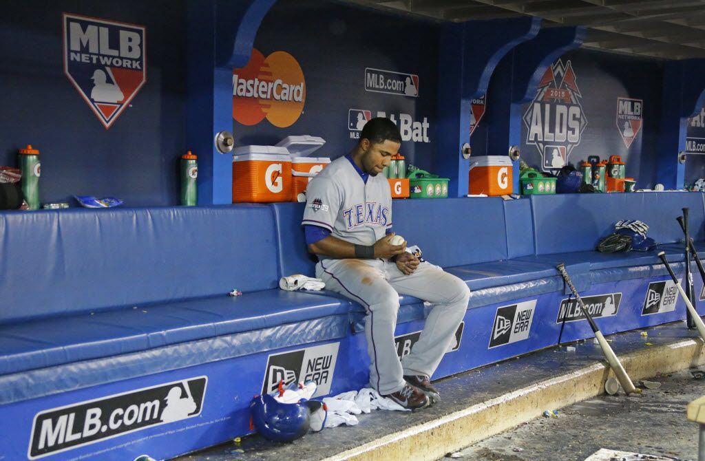 At the end of the Division Series, Elvis Andrus was left to ponder his costly mistakes in the decisive game. The Rangers must ponder an even deeper issue after an improved second-half performance: Is Andrus on the verge of taking his career to the next step or is he who he has shown throughout his first seven years in the majors? (Louis DeLuca/The Dallas Morning News)