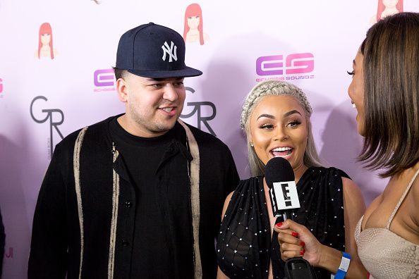 Rob Kardashian y Blac Chyna /GETTY IMAGES