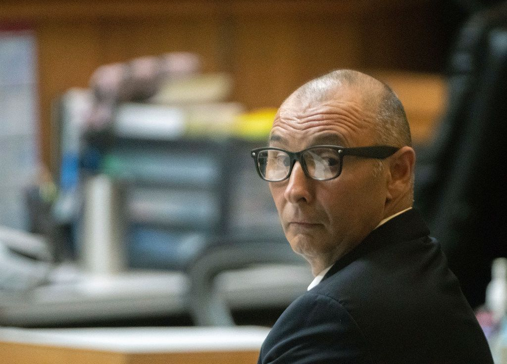 Defendant Gilberto Escamilla before the start of a sentencing hearing Friday in the 107th state District Courtroom in Brownsville. Escamilla entered two pleas of guilty for charges related to the theft of over $1 million in meats he stole and resold over two years through his position with Cameron County.