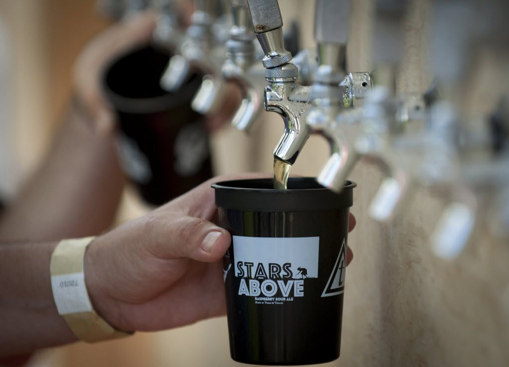 Stars Above and Hell Below, a collaboration between Martin House Brewing Company and the Toadies, was in big demand at the brewery in Fort Worth, Texas on June 26, 2016.