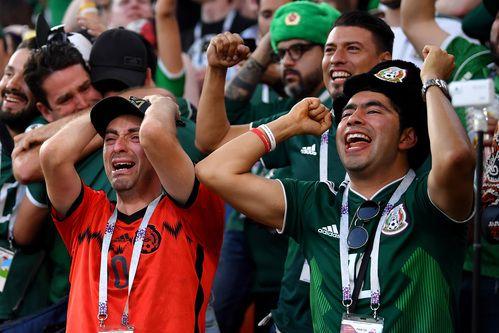 Fans de México entre la agonía y el éxtasis. AFP-Getty Images.