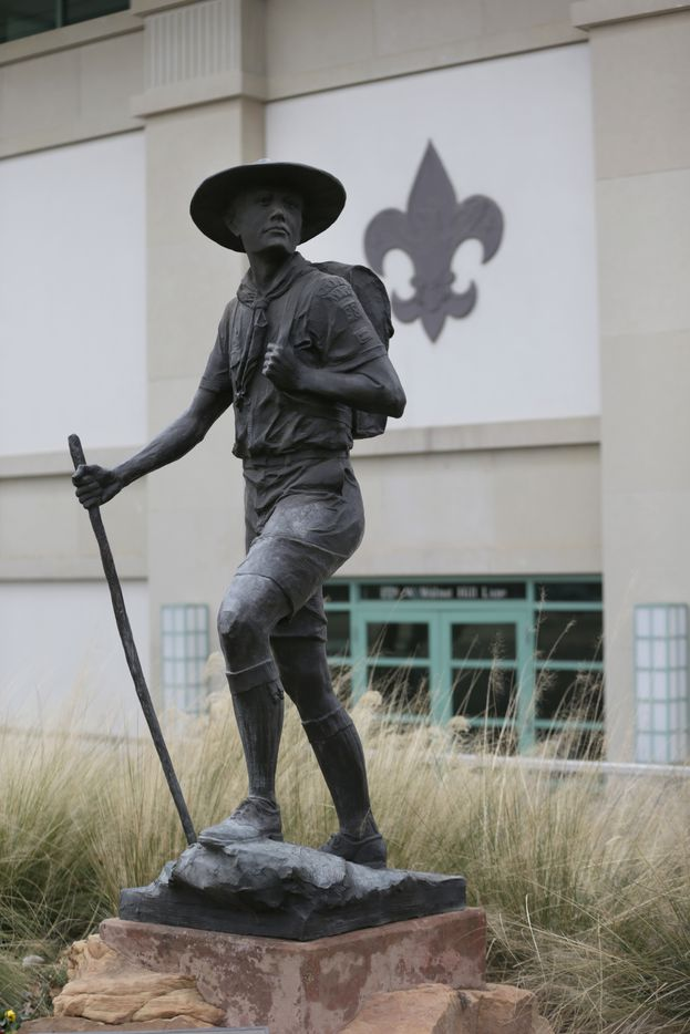 A statue of a Boy Scout stands in front of the National Scouting Museum. (2013 File Photo/The Associated Press)