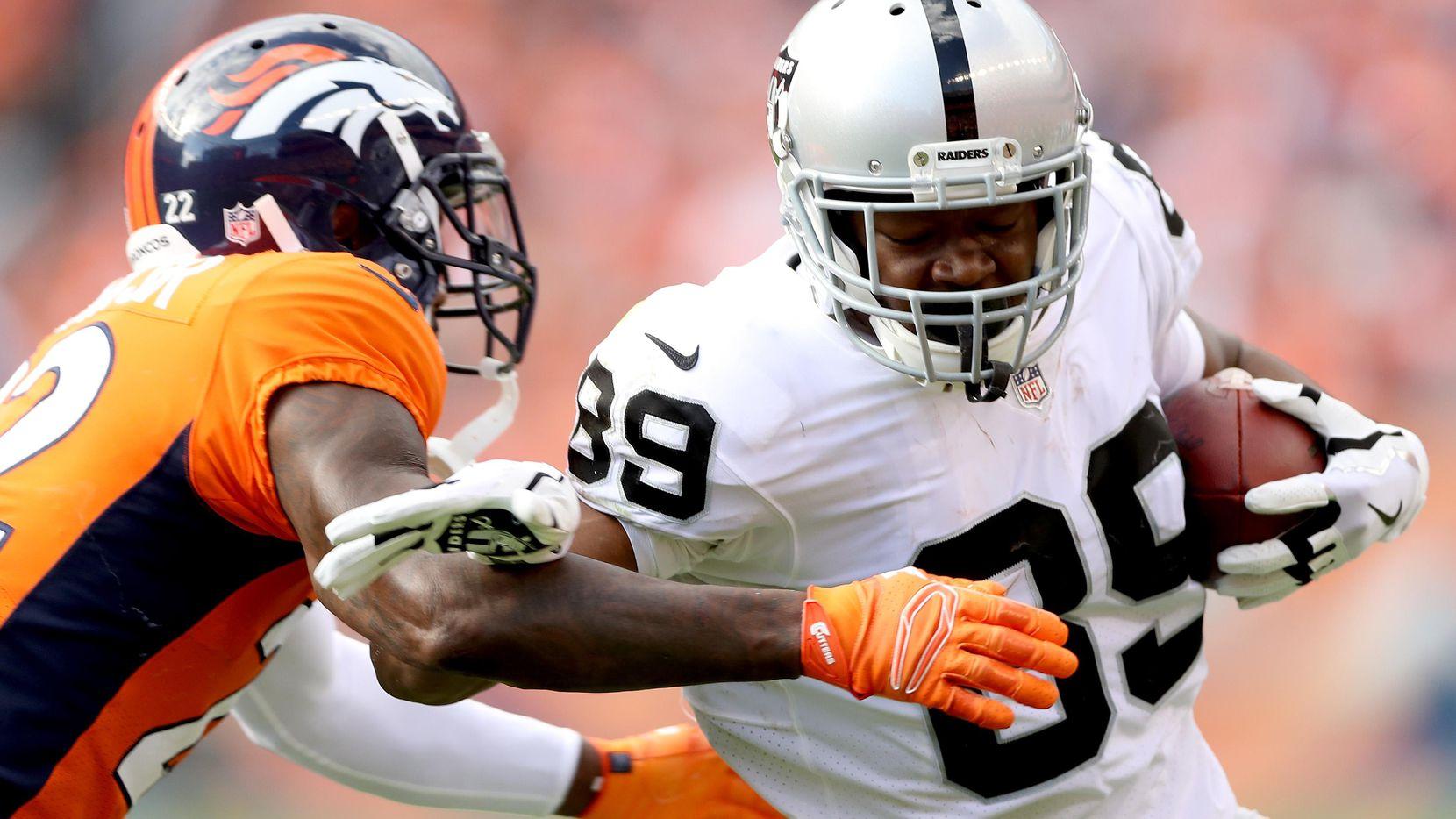 Amari Cooper de los Raiders podría ser una buena opción para los Cowboys en su búsqueda por un receptor elite. (Getty Images/Matthew Stockman)