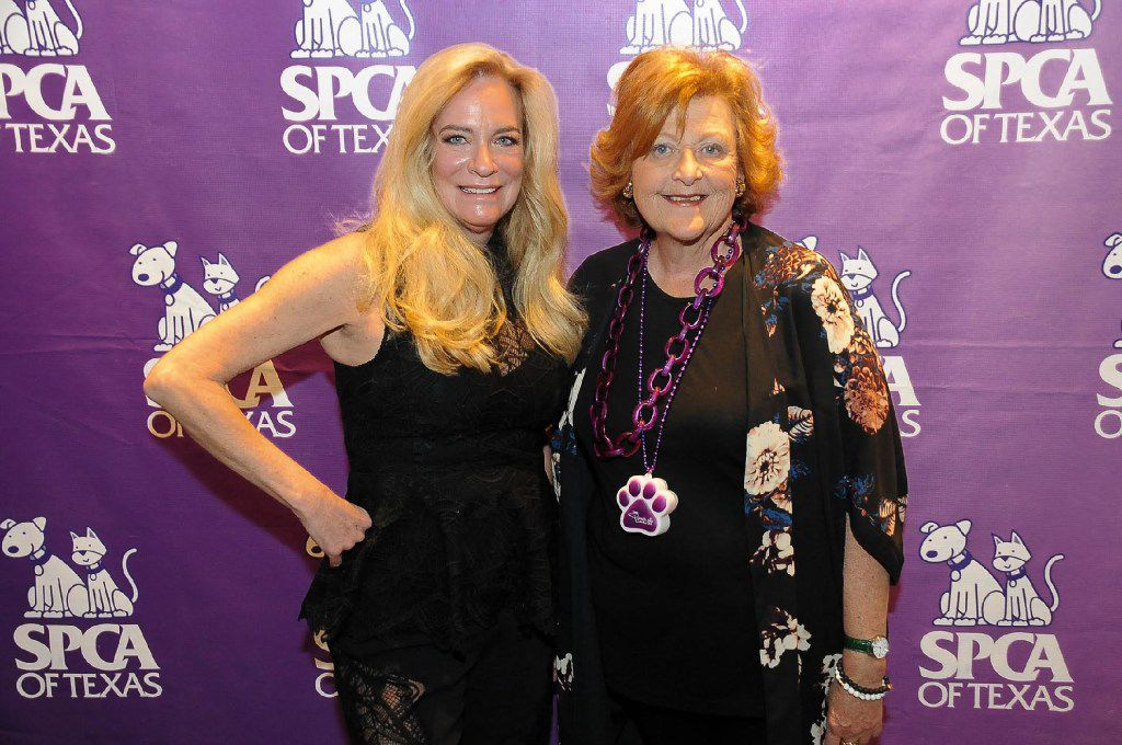 From left: Andrea Alcorn and Karen Urie worked on the Paws Cause party that raised more than $450,000 for SPCA of Texas.