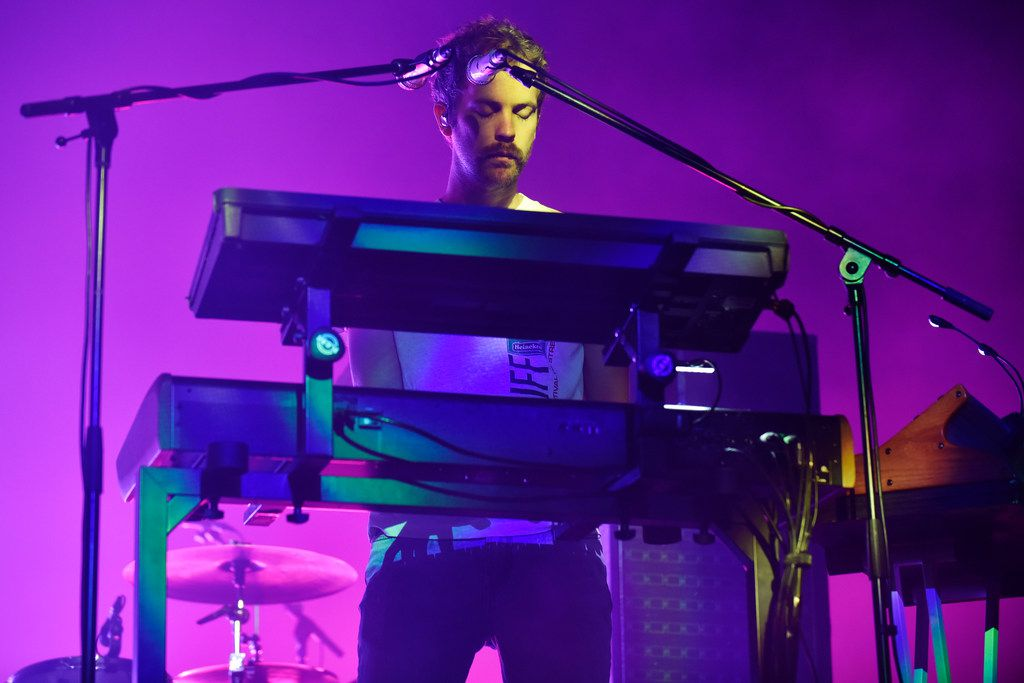 Tame Impala keyboardist Jay Watson performs at the Toyota Music Factory in Irving, Wednesday Oct. 02, 2019.