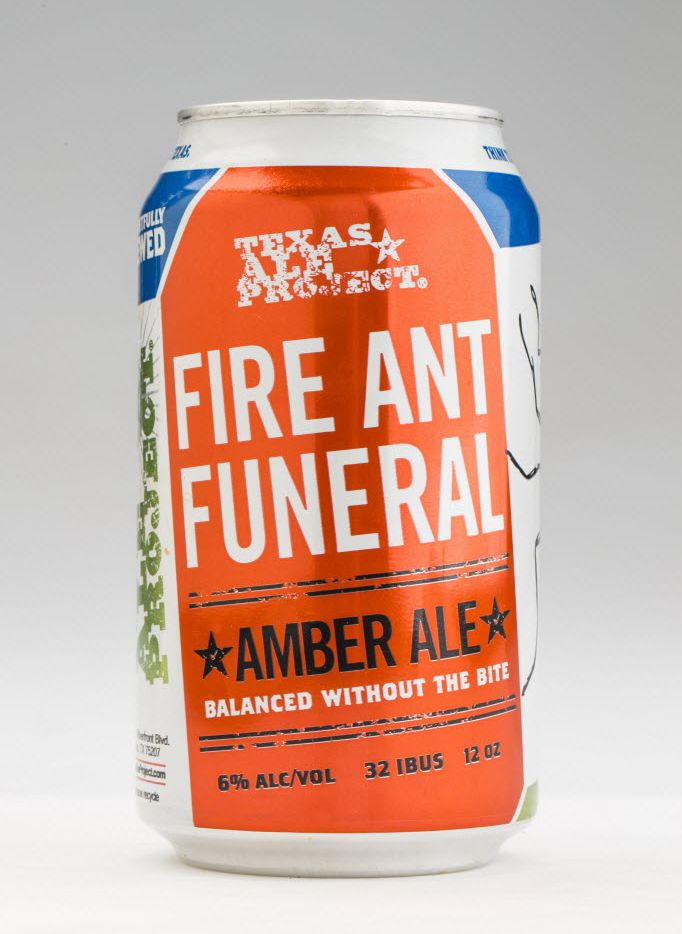 Fire Ant Funeral amber ale from Texas Ale Project