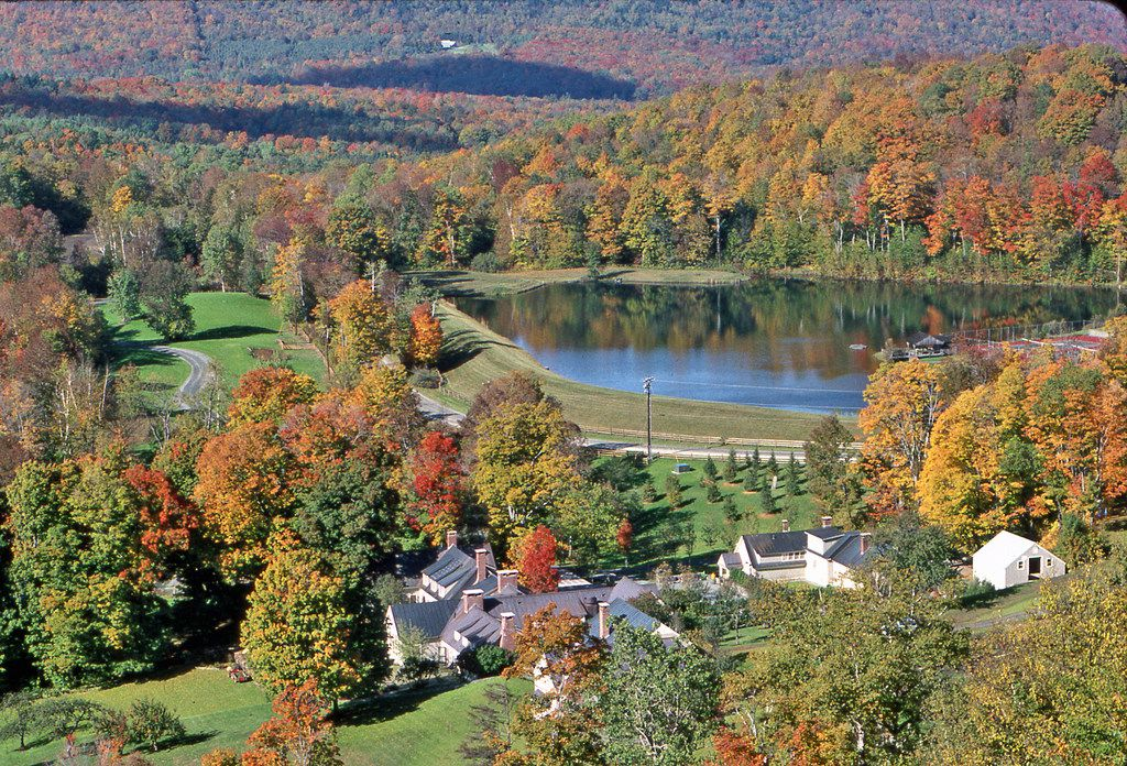 Barnard, Vermont, is home to Twin Farms, an all-inclusive resort in the Vermont mountains.