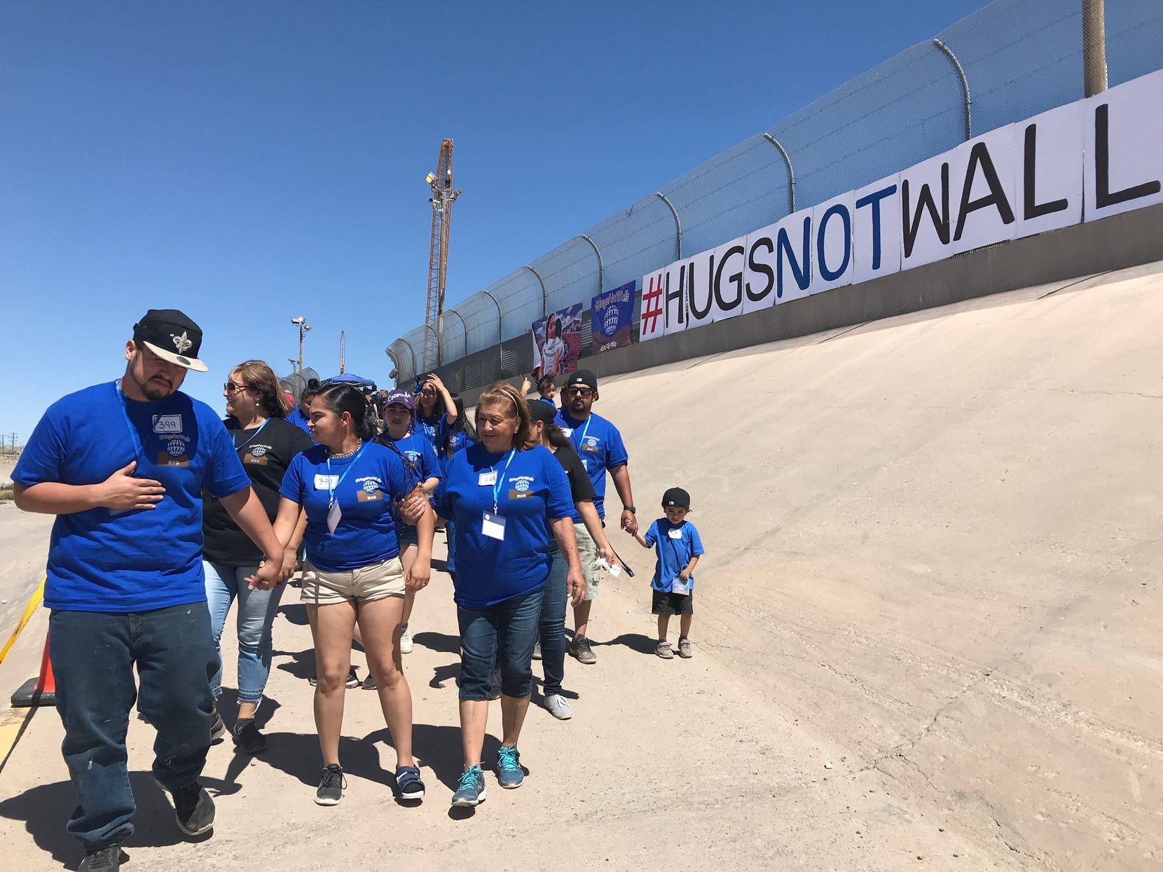 More than 4,000 people attended Hugs Not Walls in El Paso. Of that number, more than 300 were family members on each side of the border who reunited on the banks of the Rio Grande.