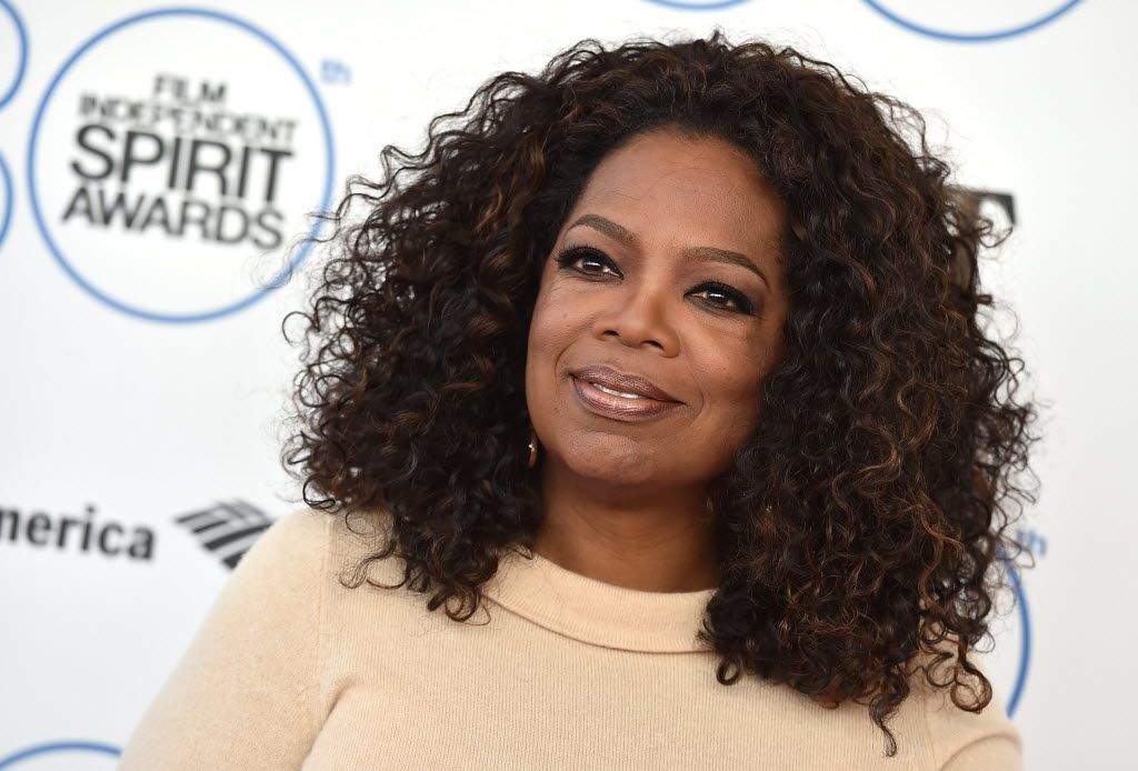 In this 2015 file photo, Oprah Winfrey arrives at the 30th Film Independent Spirit Awards in Santa Monica, Calif. L