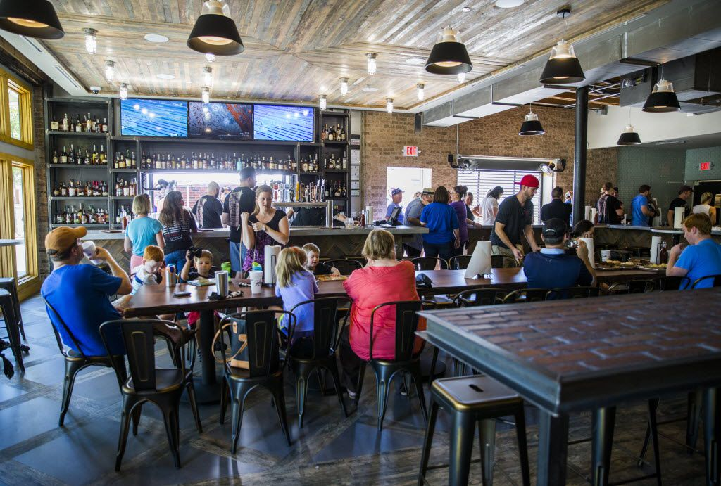 The dining room of Heim Barbecue's new location on Saturday, August 6, 2016 on W. Magnolia Ave. in Fort Worth.