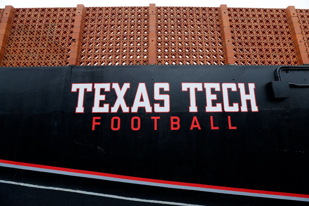 FILE - Texas Tech Football is painted on the tunnel was leading to the Jones AT&T Stadium field in Lubbock, Texas, Wednesday, August 2, 2017. (Tom Fox/The Dallas Morning News)