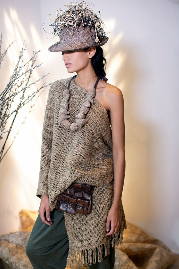 An Urban Zen look for Santa Fe Folk Art market, by Donna Karan