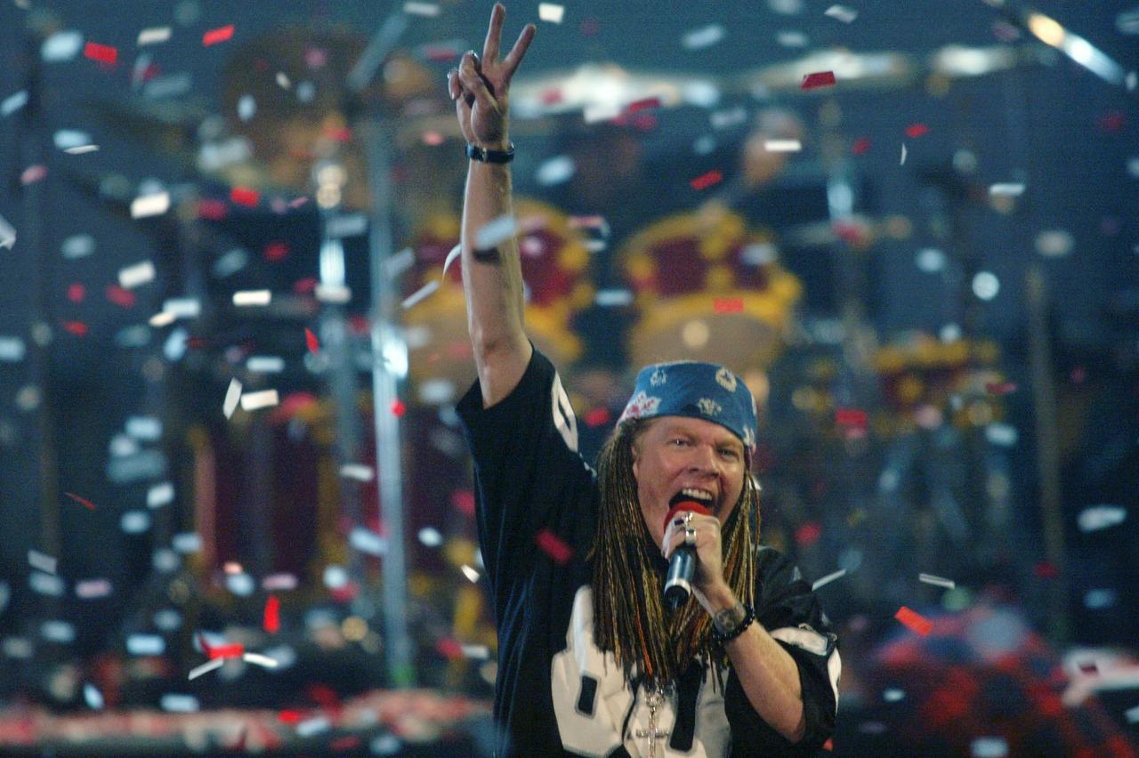 Axl Rose, vocalista de la banda Guns N' Roses. (AP/BETH KEISER)