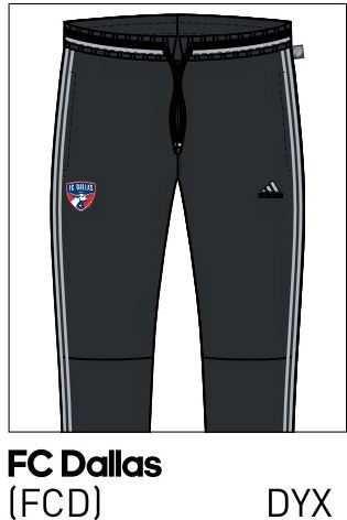 2016 FC Dallas training pants.
