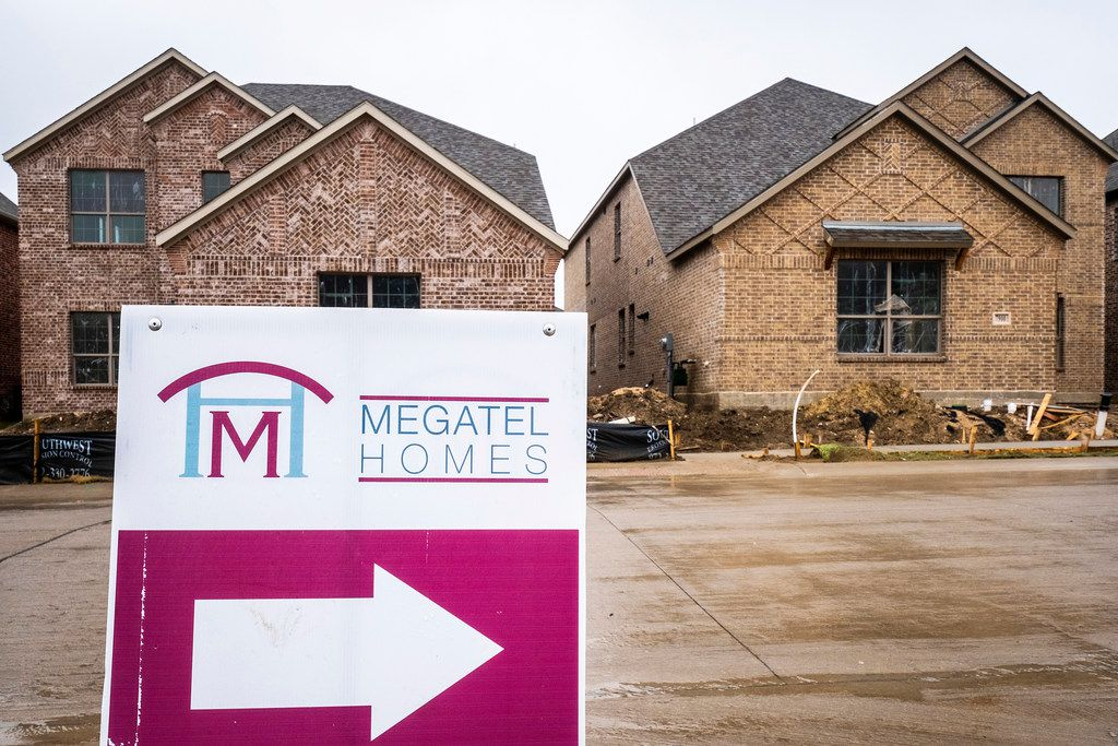 Signs point to new construction by Megatel Homes in Craig Ranch.