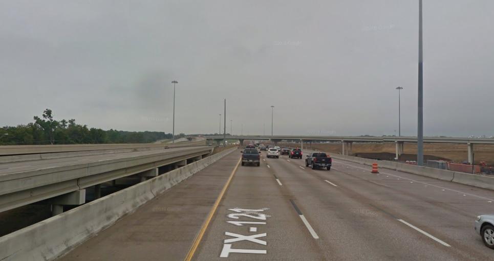 La autopista 121, donde se estarán haciendo reparaciones este fin de semana y estará cerrada.
