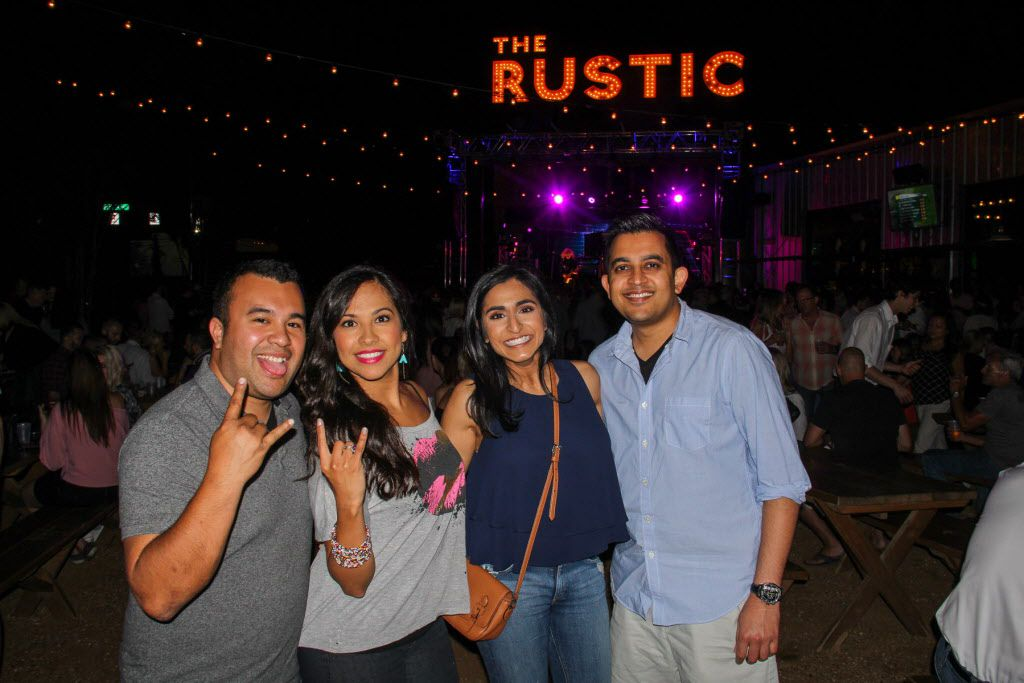 Groups of friends attended the #TBT to the '80s party on Thursday at the Rustic.