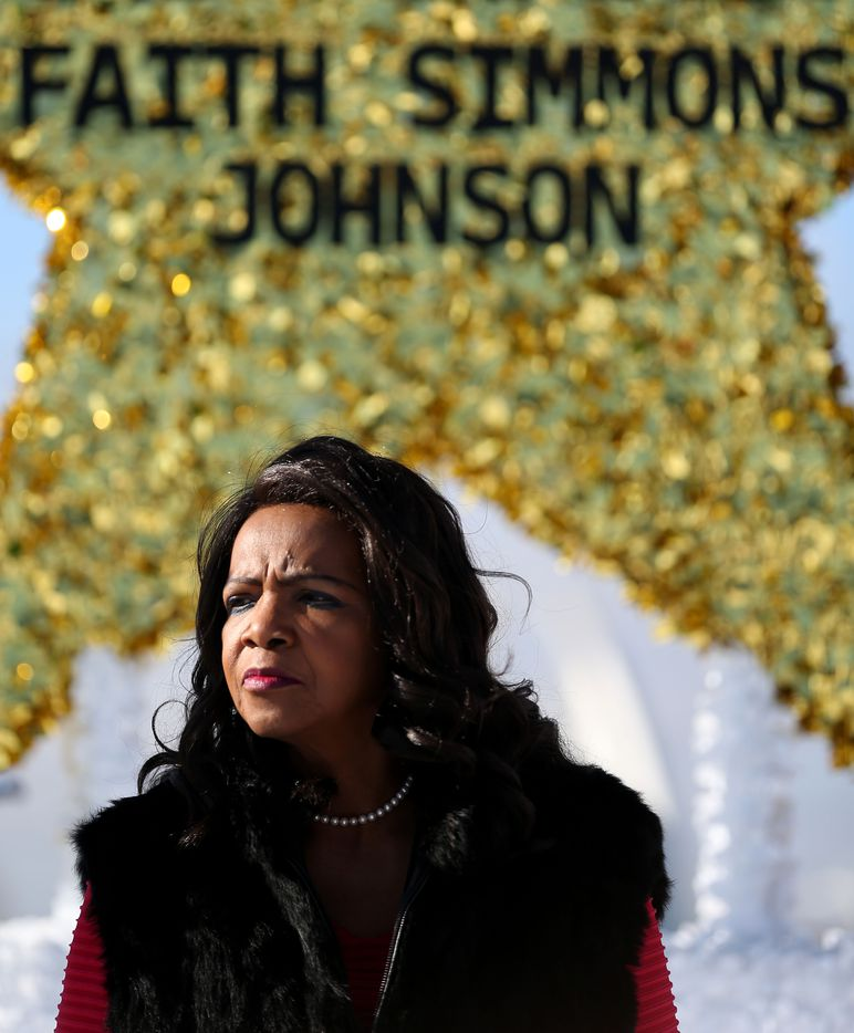 Faith Johnson, Dallas County District Attorney, serves as the grand marshal during the parade.