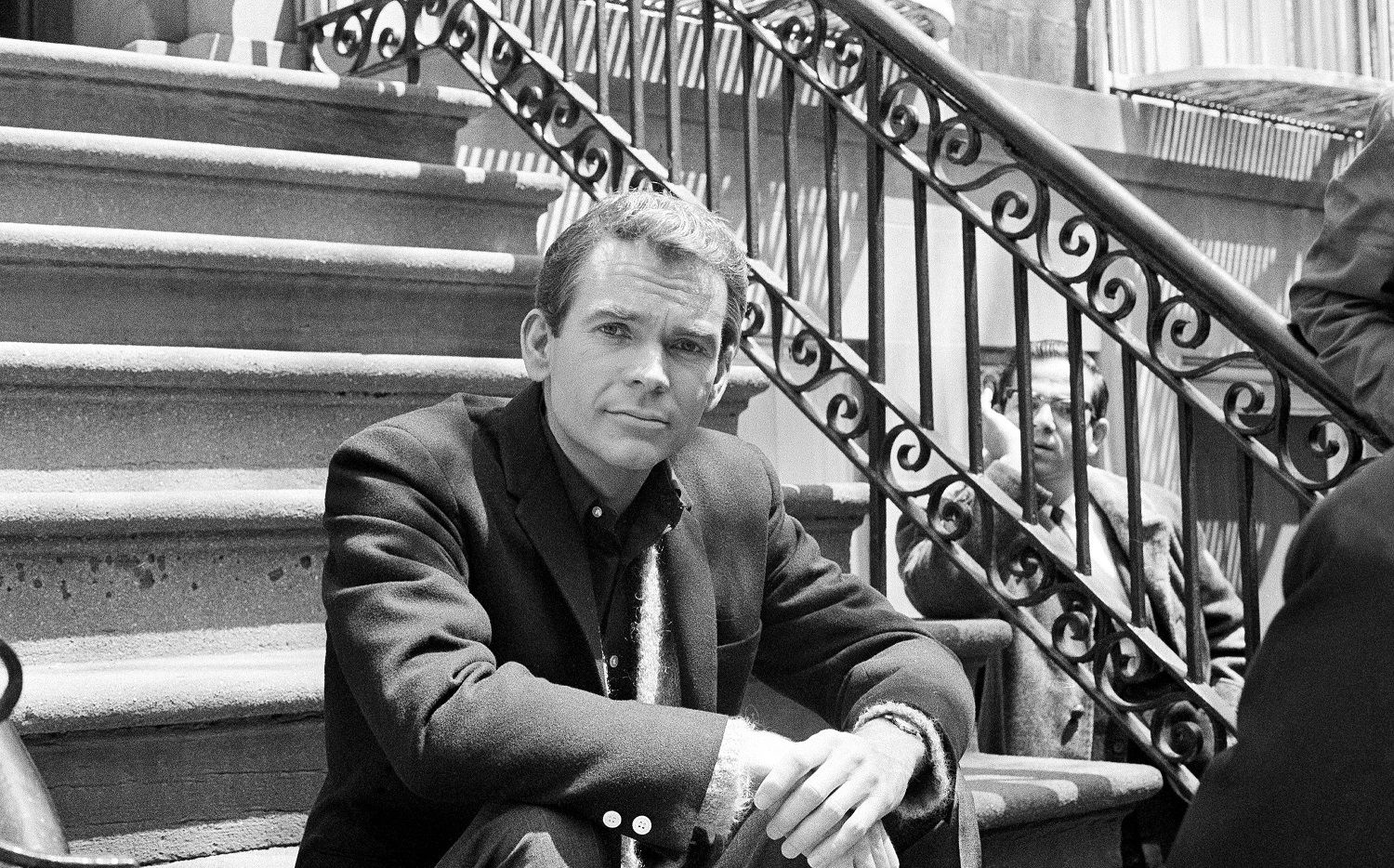 """In this May 24, 1966 file photo, actor Dean Jones, poses for a photo while on set for the Warner Bros. film, """"Any Wednesday,"""" in New York."""