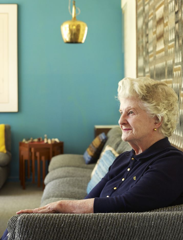Jeanette Prinz, widow of Dallas architect Harold Prinz in the home he design for the couple on Maple Springs Blvd. in 2008. Photographed for The Dallas Morning News by special contributor Stephen Karlisch.