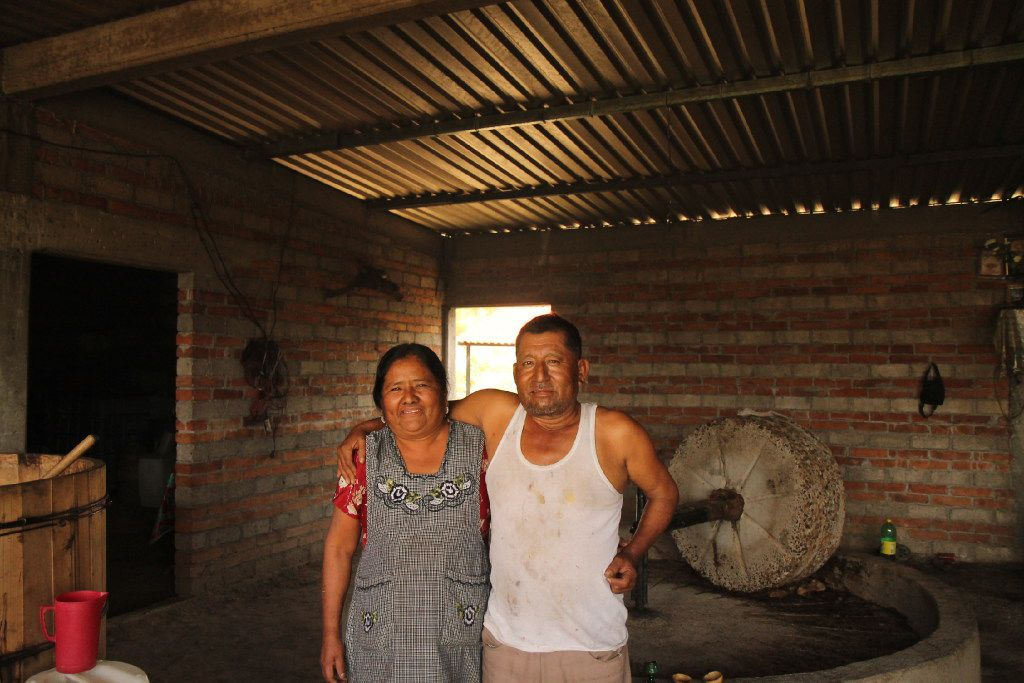 Manuel Mendez and his wife at his pelenque in the village of San Dionisio Ocotepec